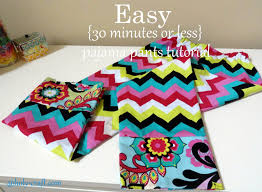free pattern pajama pants easy to sew easy to give beginners pajama pant kit with free