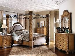 Wrought Iron Canopy Bed Bedroom Bedroom Design Idea With Brown Wooden Canopy Bed Designed