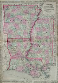 Map Of Ms Map Of Arkansas Louisiana And Mississippi 1863