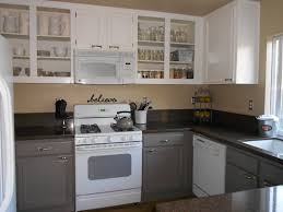Enamel Kitchen Cabinets Before And After Painted Kitchen Cabinets With Further Details