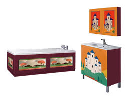 new clarice cliff art deco design painted vanity units u0026 wall