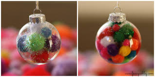 diy fancy pom pom ornaments fancy