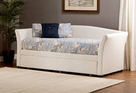 bedroom elegant white tone daybed decorated with colorful polka