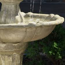 water fountain solar powered 2 levels tiered outdoor backyard