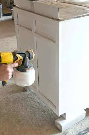Rustoleum Paint For Kitchen Cabinets Painting Kitchen Cabinets With Airless Sprayer Creative Ideas