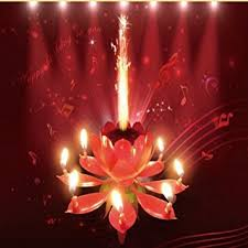 lotus birthday candle pink sparkling musical lotus happy birthday candle flower cake