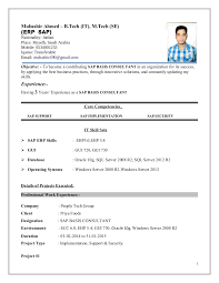 Hr Consultant Resume Sample by Mubashir Ahmed Erp Sap Basis Consultant Resume With 3 Yr Exp