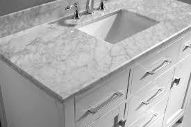 virtu usa 48 inch caroline bathroom vanity square sink with