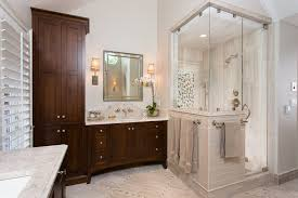 Building A Bathroom Shower How To Build A Half Wall Shower Bathroom Traditional With Linear