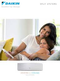 daikin split system air conditioning au brochure pdf air