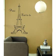 wall ideas urparcel removable romantic art paris wall sticker