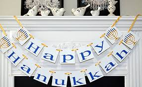 hanukkah banner happy hanukkah banner hanukkah sign hanukkah garland