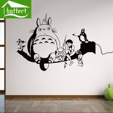 online get cheap totoro wall stickers aliexpress com alibaba group my totoro hot sale plane wall stickers for room decoration sticker wallpaper decals have moistureproof