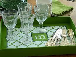 monogramed tray how to make a monogrammed tray hgtv