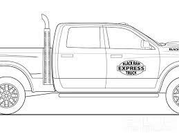 truck coloring sheet interest dodge ram coloring pages at best all