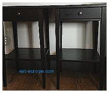 Ikea Hemnes Side Table Storage Benches And Nightstands Elegant Hemnes Nightstand Black