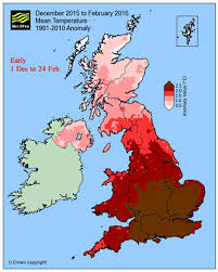 and warm winter 2016 met office