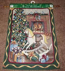 fireside lighted tapestry wall hanging ebay