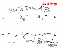 jeannelking com how to draw a good enough pig
