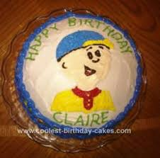 caillou birthday cake easy caillou birthday cake