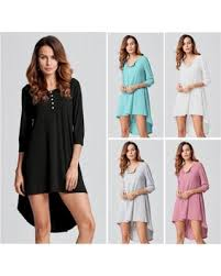 deals on zanzea womens dresses casual asymmetry hem loose