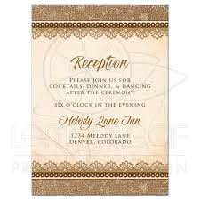 wedding reception cards wedding reception card rustic burlap lace wood