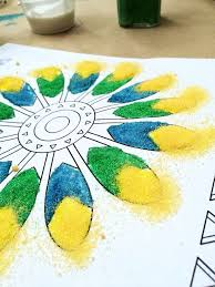 sand painting kid craft 100 directions