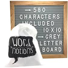 gray felt letter board 580 changeable letters and characters