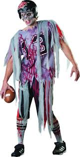 american football end zone zombie costume all mens halloween
