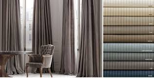 Striped Silk Fabric For Curtains Window Drapery Rh