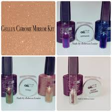 gellux chrome mirror kit demo u0026 review on youtube nails by rebecca