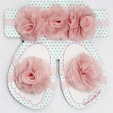 tulle flowers creations light pink tulle flowers headband and sandal set