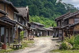 japanese town japanese ghost town shonai eigamura tsuruoka what looks flickr