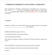 property management agreement 8 download free documents in pdf