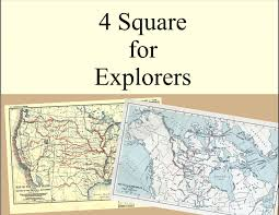 Christopher Columbus Route Map by 4 Square Writing Template For Explorers Ponce De Leon