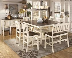 Dining Room Sets Bench Whitesburg Pub Table Bench U0026 4 Bar Stools D583 224 4 32 323