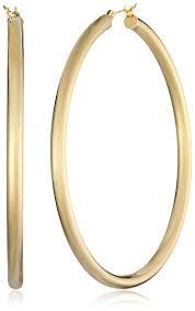14k gold hoop earrings 14k gold bonded sterling silver polished hoop earrings