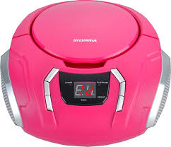 Color Pink by Amazon Com Sylvania Srcd261 B Pink Portable Cd Boombox With Am Fm