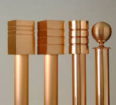 Copper Curtain Rods Wood Poles Living Room Decorating Ideas Curtain