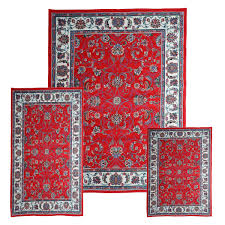 Area Rug And Runner Set Traditional Medallion Persian 3 Pcs Area Rug Oriental Bordered