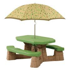 step2 table and chairs green and tan step2 naturally playful picnic table with umbrella tan picnic