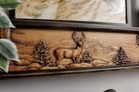 deer season fireplace mantel or shelf fireplace mantels u0026 shelves