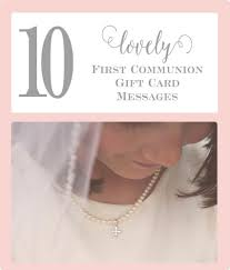 Holy Communion Invitation Cards Samples 10 First Communion Gift Card Messages Little Girls Pearls