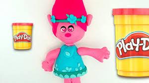 how to make poppy from trolls cartoon play doh creative fun