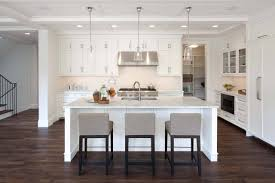 white kitchen island design ideas come with white marble