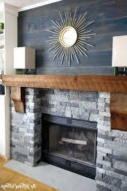 stacked stone veneer fireplace installation makeover corner
