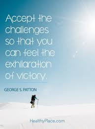 inspirational quote victory positive quote accept the challenges so that you can feel the