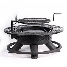 Firepit Grill Shop Big Horn 47 In W Black Steel Wood Burning Pit At