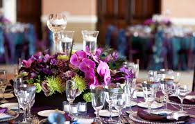 wedding table centerpiece ideas 37 trendy purple wedding table decorations