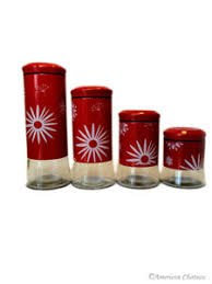 Red Glass Kitchen Canisters by Kitchen Canisters